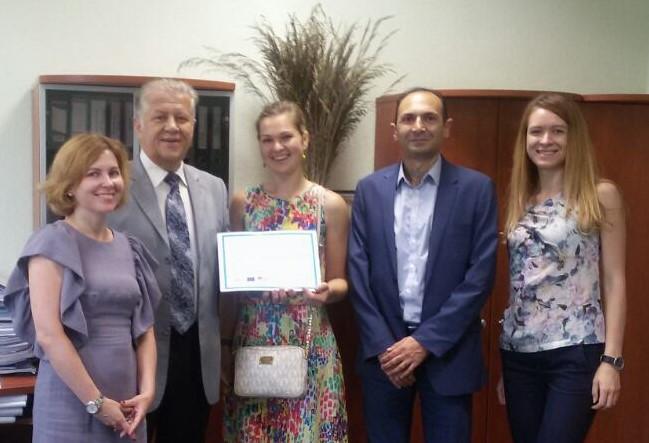 ТОВ «НВК «Екофарм» отримала сертифікат про успішне завершення проекту щодо запровадження МСФЗ