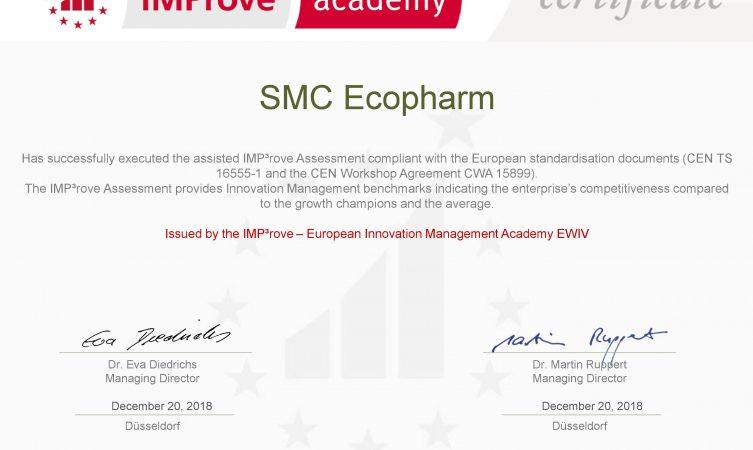 ТОВ «НВК «Екофарм» отримало сертифікат IMP3rove