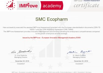 ООО «НПК «Экофарм »получило сертификат IMP3rove